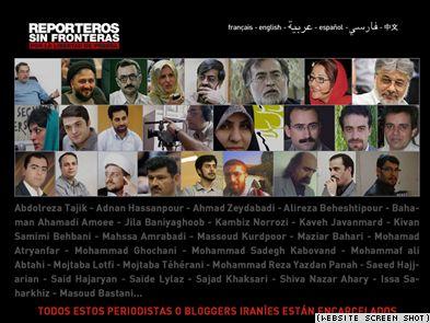 Inhaftierte iranische Journalisten