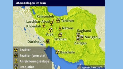 Nuklearanlagen in Iran