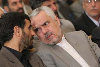 Ahmadinedjad und sein Vize Rahimi