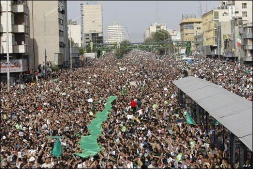 Demonstration in Teheran (Juni 2009)