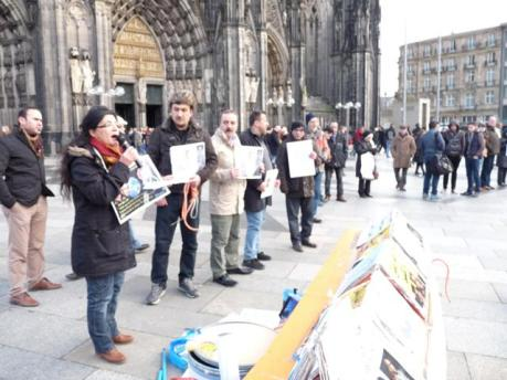 Mahnwache für Moradi-Brüder in Köln, Januar 2013