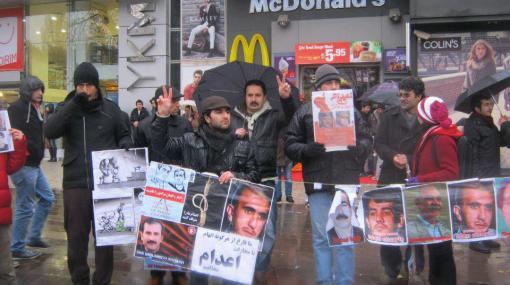 Mahnwache für Moradi-Brüder in der Türkei, Januar 2013