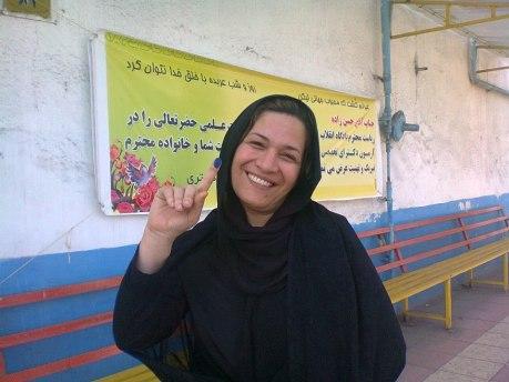Fereshteh Shirazi nach Freilassung