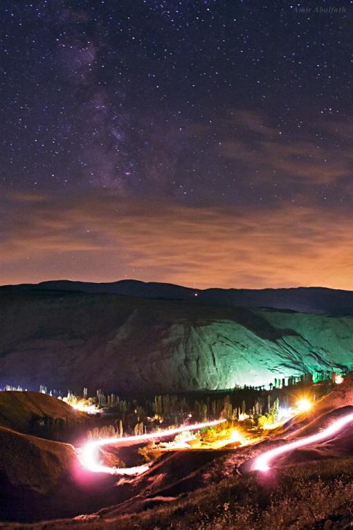 Milchstraße über dem Alamut-Tal, Iran