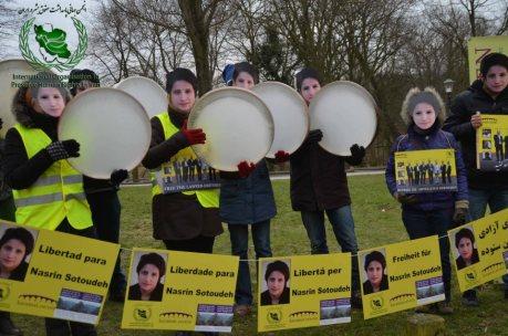 demo für nasrin in den haag, feb 2013