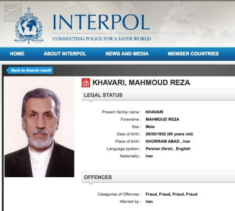 khavari interpol