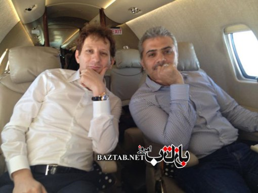 Babak Zanjani und MirKazemi im Privatjet