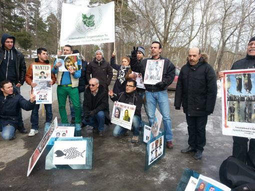 demo Botschaft Stockholm März 2013