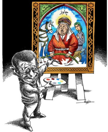 mana neyestani an va emam chavez