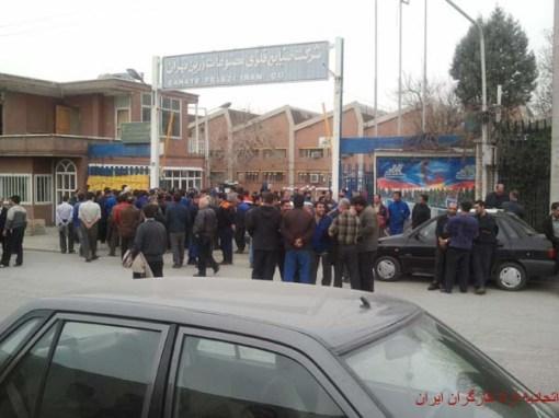 Demo Stahlarbeiter Teheran