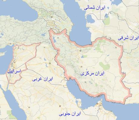 iran-israel geostrategische Karte