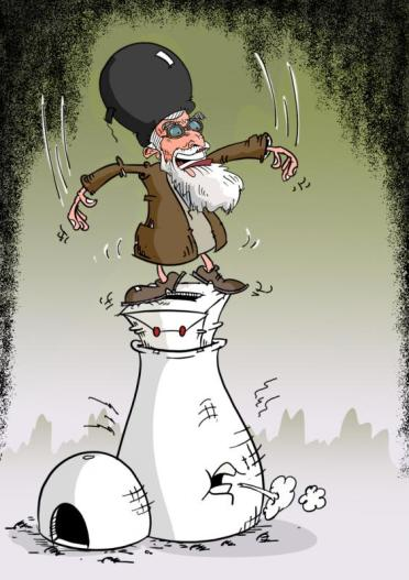 Mahvari cartoon kham, atom, elections