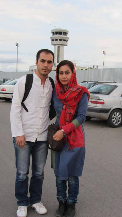 Hossein Ronaghi vor Evin