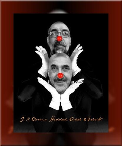 IRI Clowns Haddad Adel und Velayati