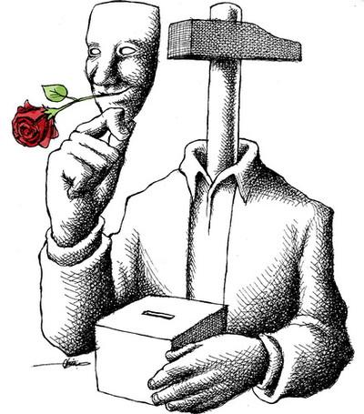 Neyestani Rose und Wahlurne