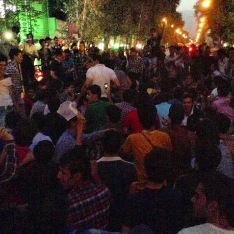 Rouhani-Anhänger in Teheran Vali Asr