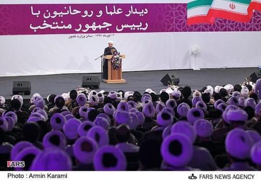 Rouhanis Treffen mit Geistlichen