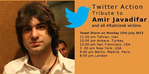 Tweet storm für Amir Javadifar ua Kahrizak-Opfer