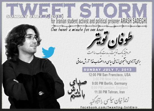 Tweetstorm Arash Sadeghi 7 July