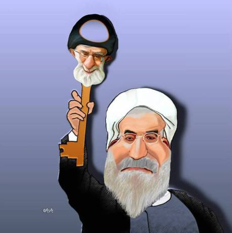 Rouhani mit Kham-Schlüssel