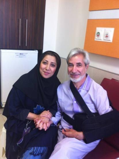 Feizollah Arabsorkhi mit Ehefrau
