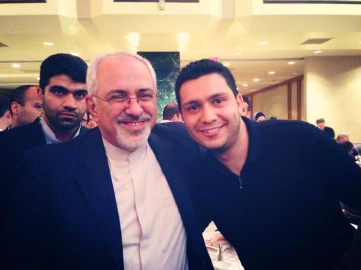 Mehdi Saharkhiz mit Zarif in NY
