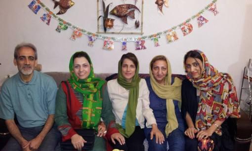 Mostafa Karimbeygis Familie bei Nasrin Sotoudeh