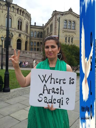 Sept Oslo vor Parlament - Where is Arash Sadeghi
