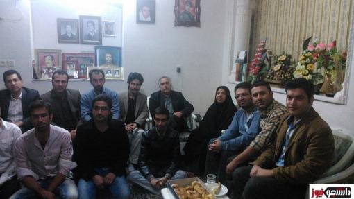 16 Azar Studenten bei Majid T Familie