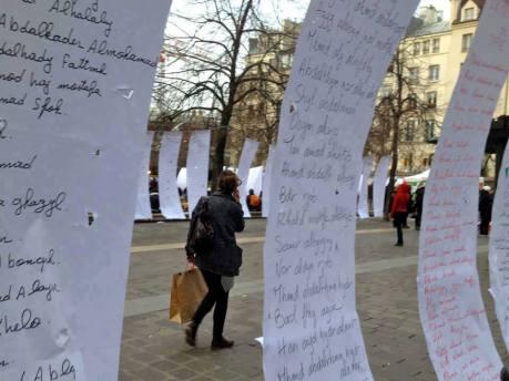 Paris - Namen getöteter syrischer Kinder