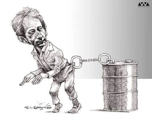 cartoon Babak Zanjani - Tuka Neyestani